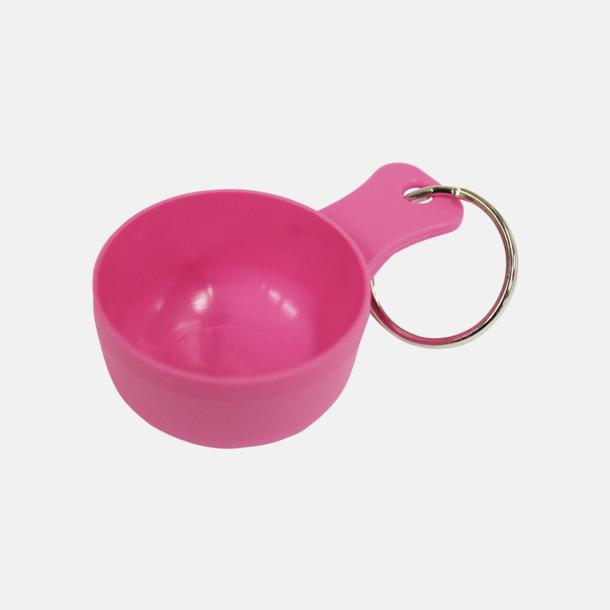 Rosa Små kåsor för nyckelringen med tryck