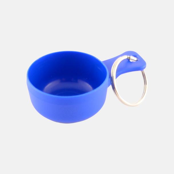 Blå Små kåsor för nyckelringen med tryck