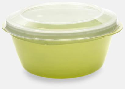 Limegrön Rund matlåda med eget tryck
