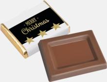 Inslagna chokladbitar till kaffet - med reklamtryck