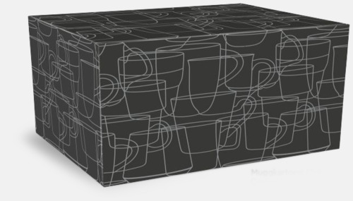 Kartong 2-pack Kaffemuggar med kantiga öron - med reklamtryck
