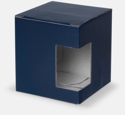 1-pack (blå) Moderna porslinsmuggar med reklamtryck