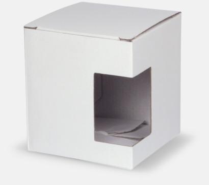 1-pack (vit) Moderna porslinsmuggar med reklamtryck