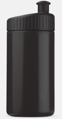 Svart (50 cl) Vattenflaskor i 2 storlekar med reklamtryck