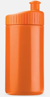 Orange (50 cl) Vattenflaskor i 2 storlekar med reklamtryck