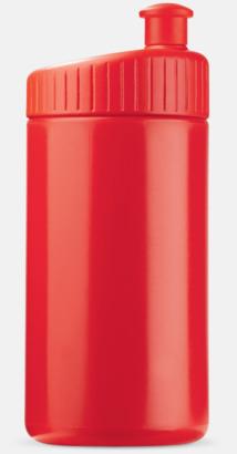 Röd (50 cl) Vattenflaskor i 2 storlekar med reklamtryck