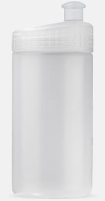 Transparent (50 cl) Vattenflaskor i 2 storlekar med reklamtryck