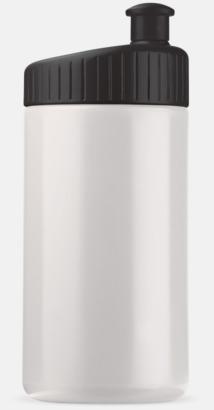 Vit/Svart (50 cl) Vattenflaskor i 2 storlekar med reklamtryck