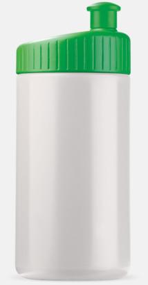 Vit/Grön (50 cl) Vattenflaskor i 2 storlekar med reklamtryck