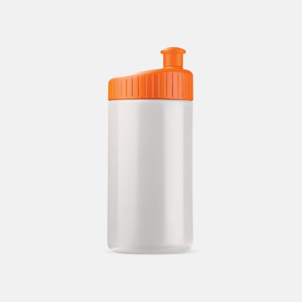 Vit/Orange (50 cl) Vattenflaskor i 2 storlekar med reklamtryck