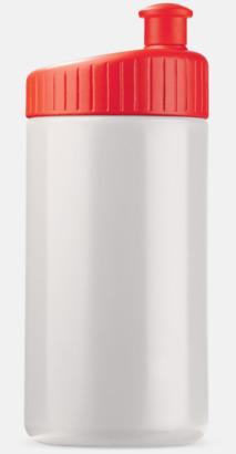 Vit/Röd (50 cl) Vattenflaskor i 2 storlekar med reklamtryck