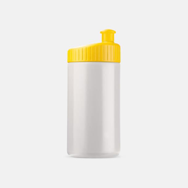 Vit/Gul (50 cl) Vattenflaskor i 2 storlekar med reklamtryck