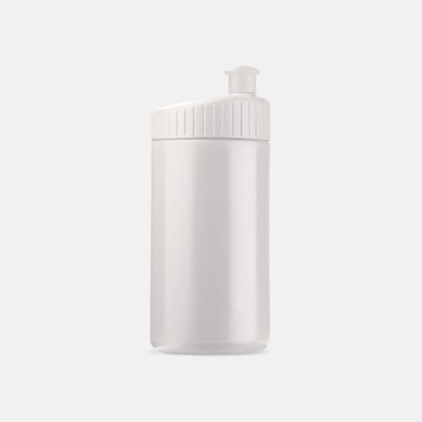 Vit (50 cl) Vattenflaskor i 2 storlekar med reklamtryck