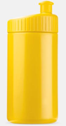 Gul (50 cl) Vattenflaskor i 2 storlekar med reklamtryck
