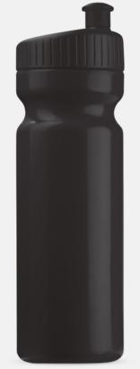 Svart (75 cl) Vattenflaskor i 2 storlekar med reklamtryck