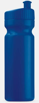Mörkblå (75 cl) Vattenflaskor i 2 storlekar med reklamtryck