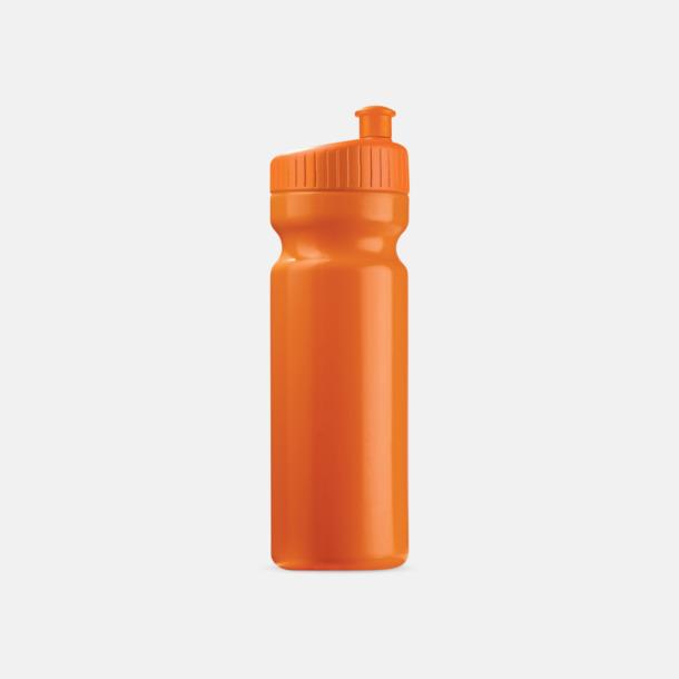 Orange (75 cl) Vattenflaskor i 2 storlekar med reklamtryck