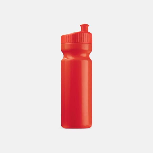 Röd (75 cl) Vattenflaskor i 2 storlekar med reklamtryck