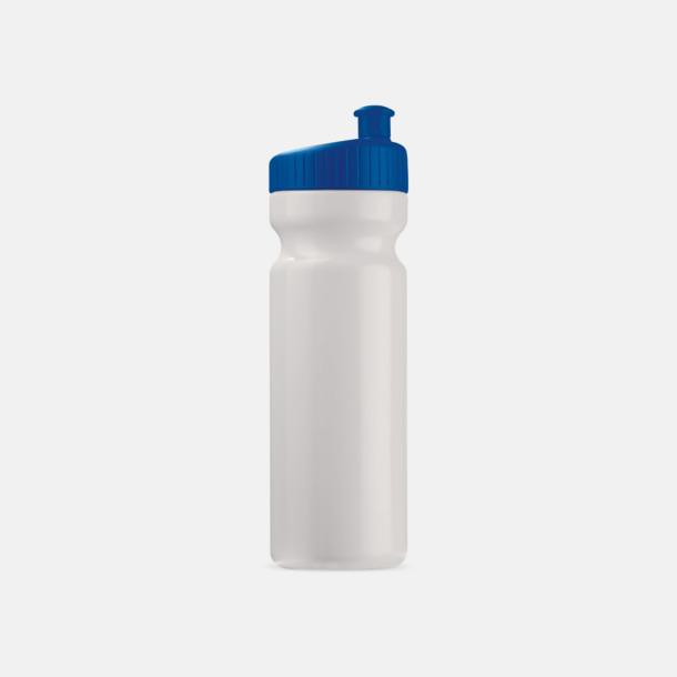 Vit/Mörkblå (75 cl) Vattenflaskor i 2 storlekar med reklamtryck