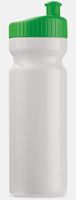 Vit/Grön (75 cl) Vattenflaskor i 2 storlekar med reklamtryck
