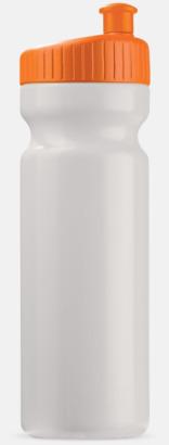 Vit/Orange (75 cl) Vattenflaskor i 2 storlekar med reklamtryck