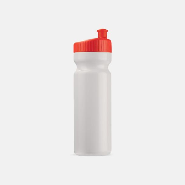 Vit/Röd (75 cl) Vattenflaskor i 2 storlekar med reklamtryck