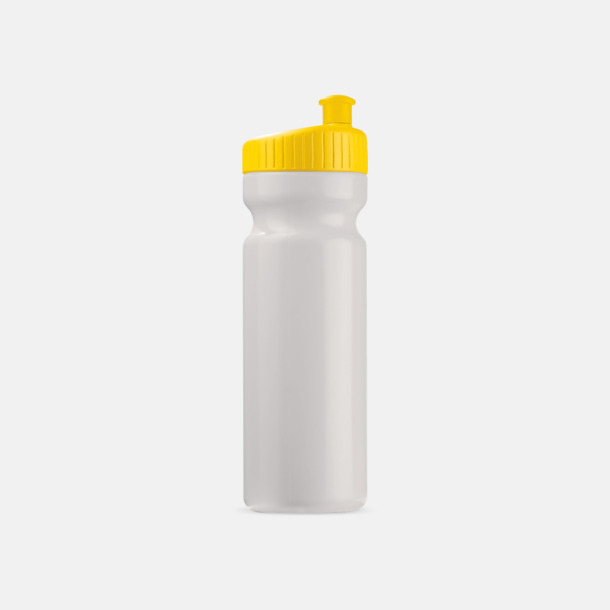 Vit/Gul (75 cl) Vattenflaskor i 2 storlekar med reklamtryck