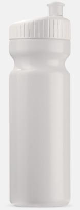 Vit (75 cl) Vattenflaskor i 2 storlekar med reklamtryck