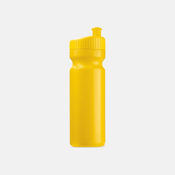 Gul (75 cl) Vattenflaskor i 2 storlekar med reklamtryck