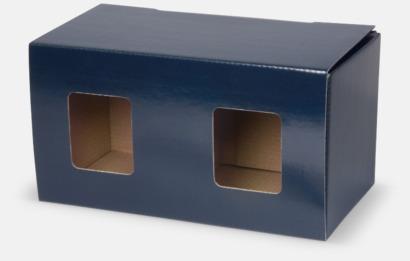 2-pack (blå) Billiga porslinskoppar med reklamtryck