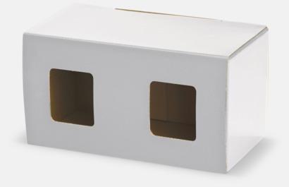 2-pack (vit) Billiga porslinskoppar med reklamtryck