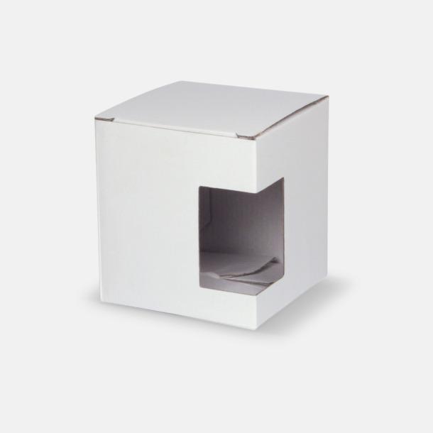 1-pack (vit) Stapelbara porslinsmuggar med reklamtryck