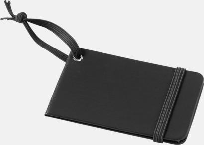 Svart Stängda bagagebrickor med reklamtryck
