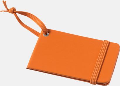 Orange Stängda bagagebrickor med reklamtryck