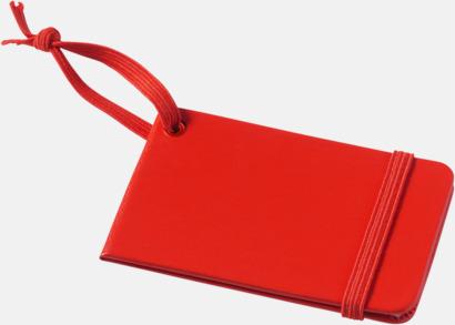 Röd Stängda bagagebrickor med reklamtryck