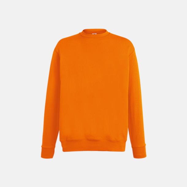 Orange En lite tunnare collagetröja med egen reklamlogga