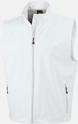 Off-White (herr) Softshell-västar i dam- & herrmodell med reklamtryck
