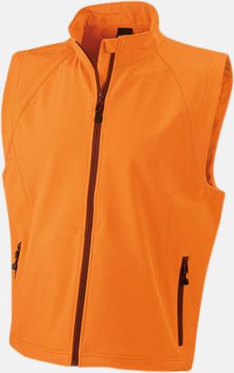 Orange (herr) Softshell-västar i dam- & herrmodell med reklamtryck