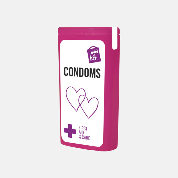 Magenta MiniKit kondomer i ask med egen logga