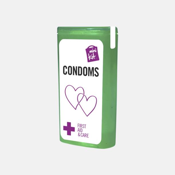 Grön MiniKit kondomer i ask med egen logga