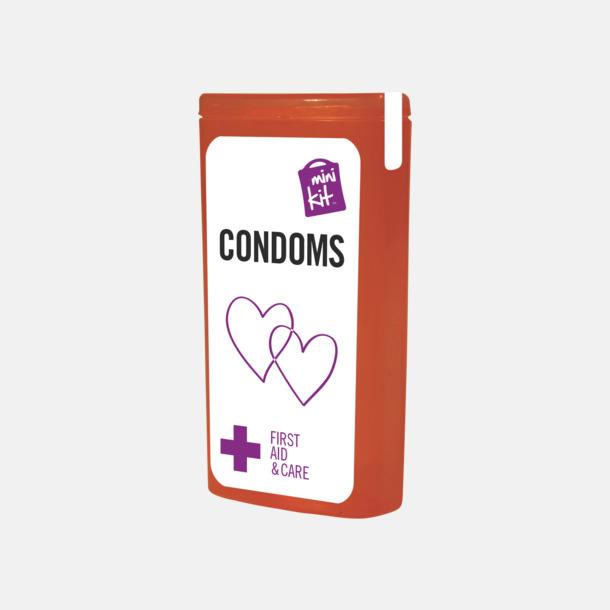 Röd MiniKit kondomer i ask med egen logga