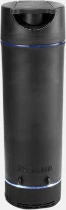 Svart Bluetooth audioflaskor med reklamtryck
