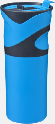 Blå Sportiga termosmuggar med reklamtryck