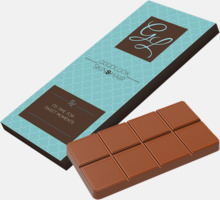 Chokladkaka i ask med eget reklamtryck
