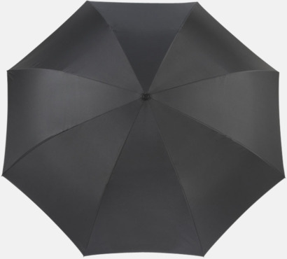Svart Vändbara paraplyer med reklamtryck