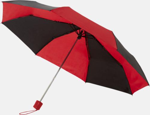 Randiga kompaktparaplyer med reklamtryck