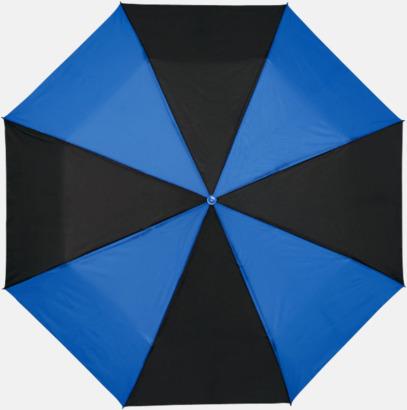 Svart / Blå Randiga kompaktparaplyer med reklamtryck