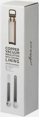 Presentförpackning Kopparvakuumflaska med keramikteknik med reklamtryck