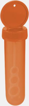 Orange Rör med såpbubbelmedel med reklamtryck