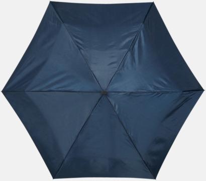 Mörkblå Billiga kompaktparaplyer i fodral med reklamtryck